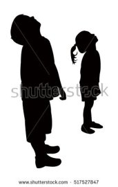 stock-vector-children-head-looking-up-silhouette-vector-517527847